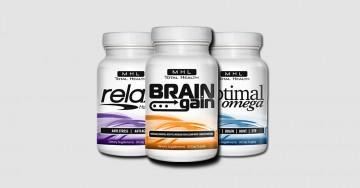 3 supplements brain gain, relax holy basil, optimal omega