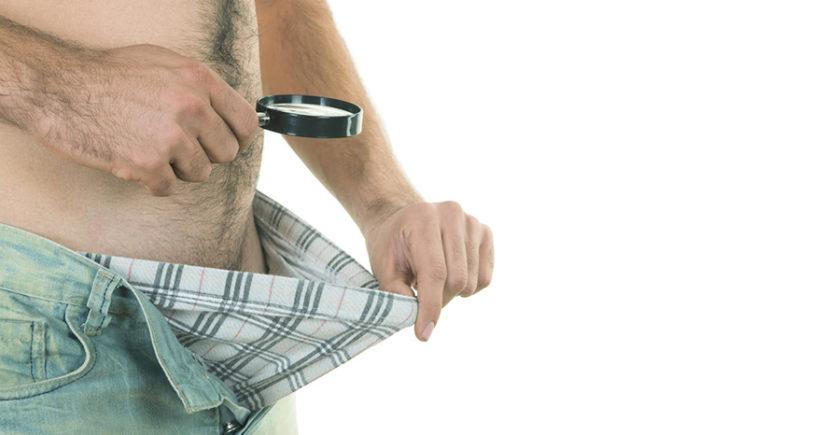 Measuring penis size