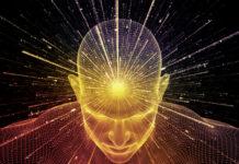 glowing head 3D image