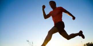 man who takes Progentra running outdoors