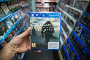 Shadow of The Colossus video game on PS4