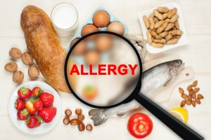 food allergy, allergens, nuts, egg, seafood
