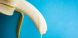 banana with cream symbolize penis with semen