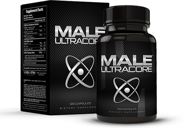 Box and Bottle of Male UltraCore Pills