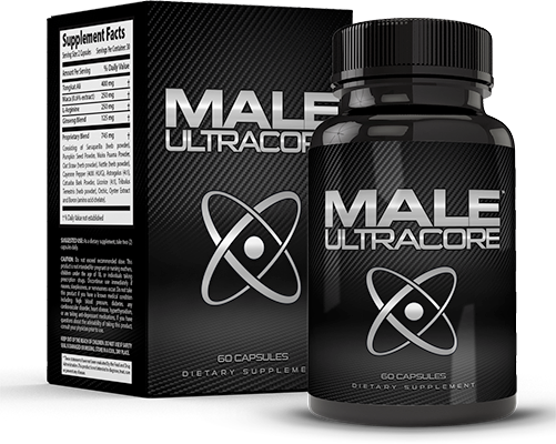 Male UltraCore MensLifeAdvice Bottle and Box