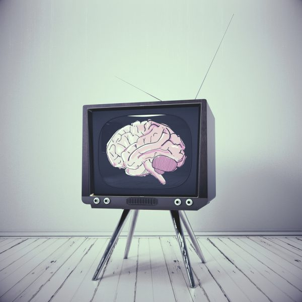 brain in tv, idiot box