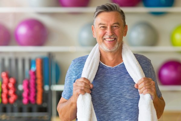 man enjoying fitness and work out